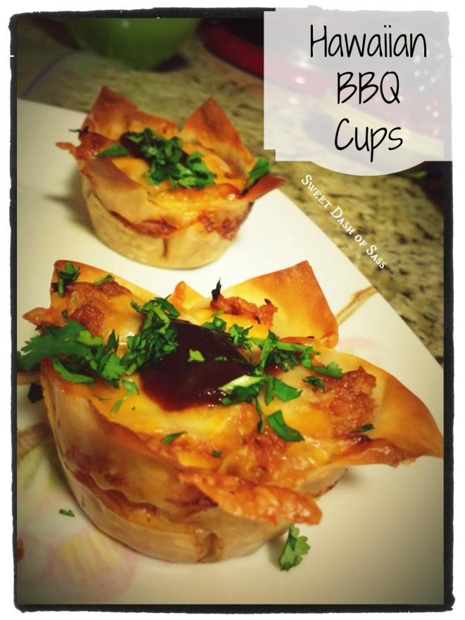 Hawaiian BBQ Cups - www.SweetDashofSass.com