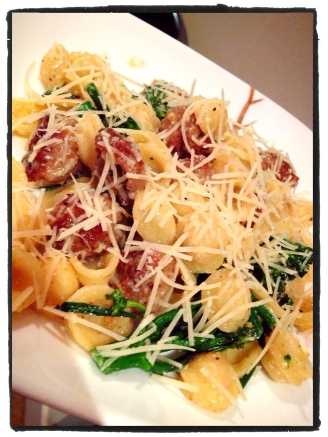Orecchiette Pasta with Turkey Sausage & Broccolini