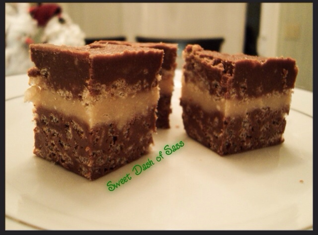 Chocolate Peanut Butter Fudge Crunch - www.SweetDashofSass.com