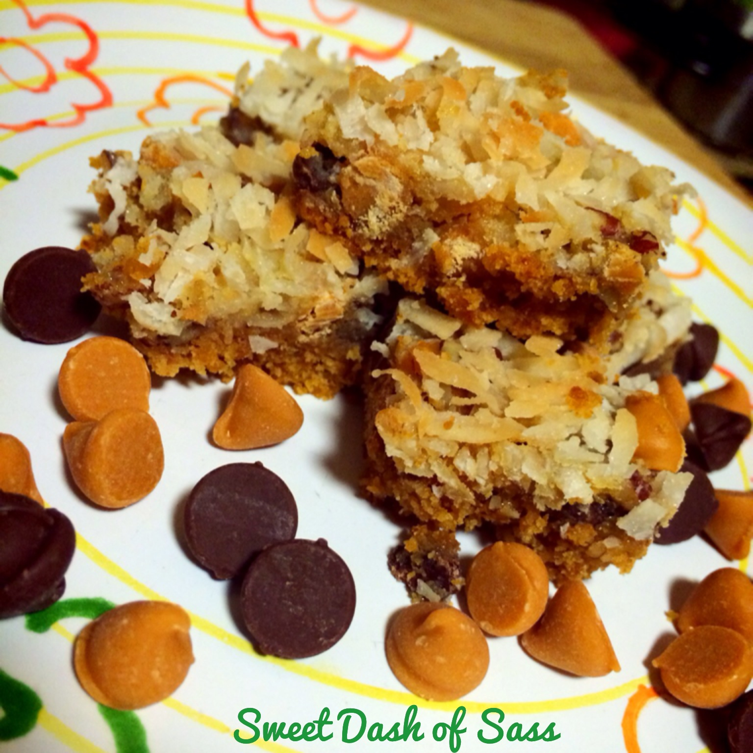 Magic Layer Bars - www.SweetDashofSass.com - 25 Days of Christmas, Cookie Style