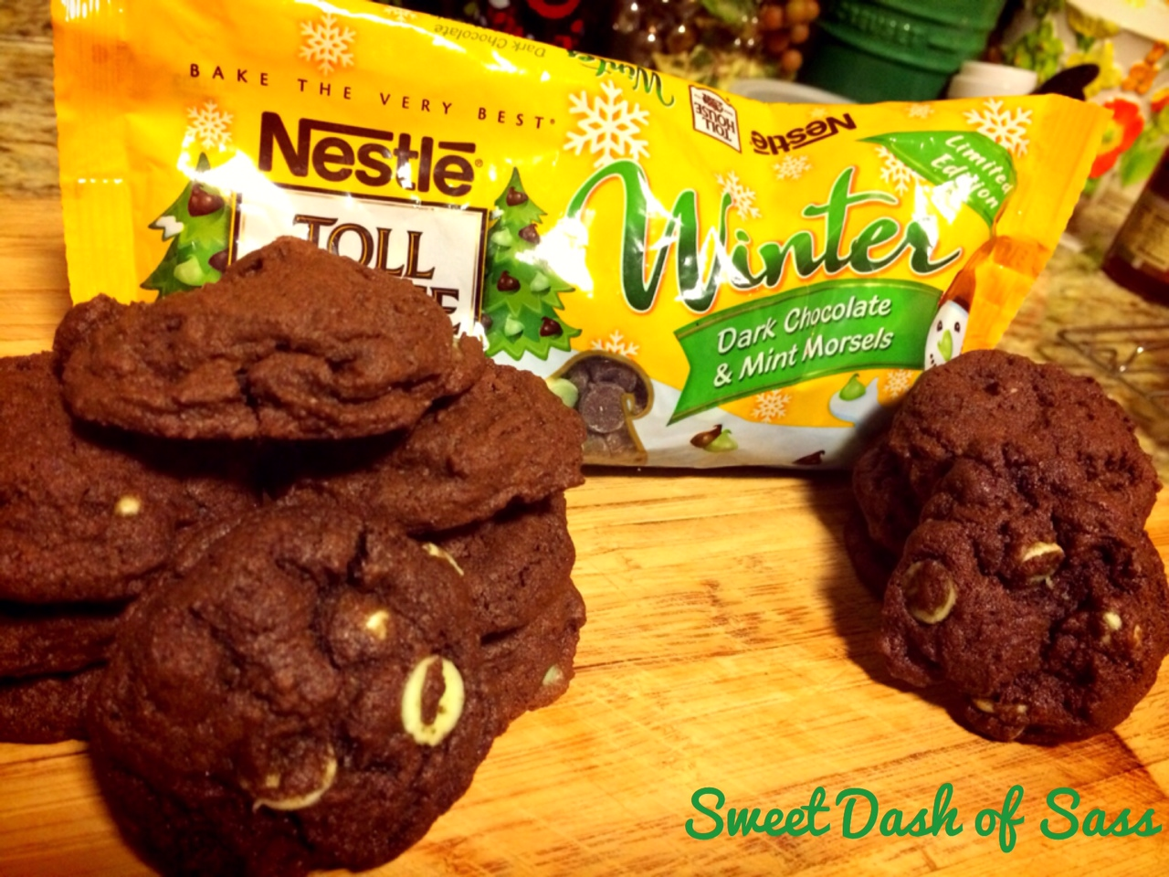 Chocolate Mint Cookies - 25 Days of Christmas - Cookie Style - www.SweetDashofSass.com