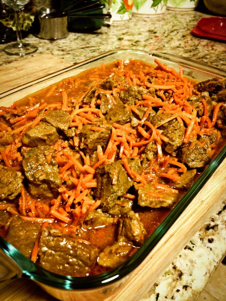 Persian Carrot & Beef Dish - www.SweetDashofSass.com