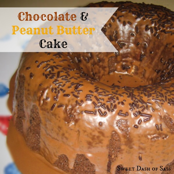Chocolate Peanut Butter Cake - www.SweetDashofSass.com