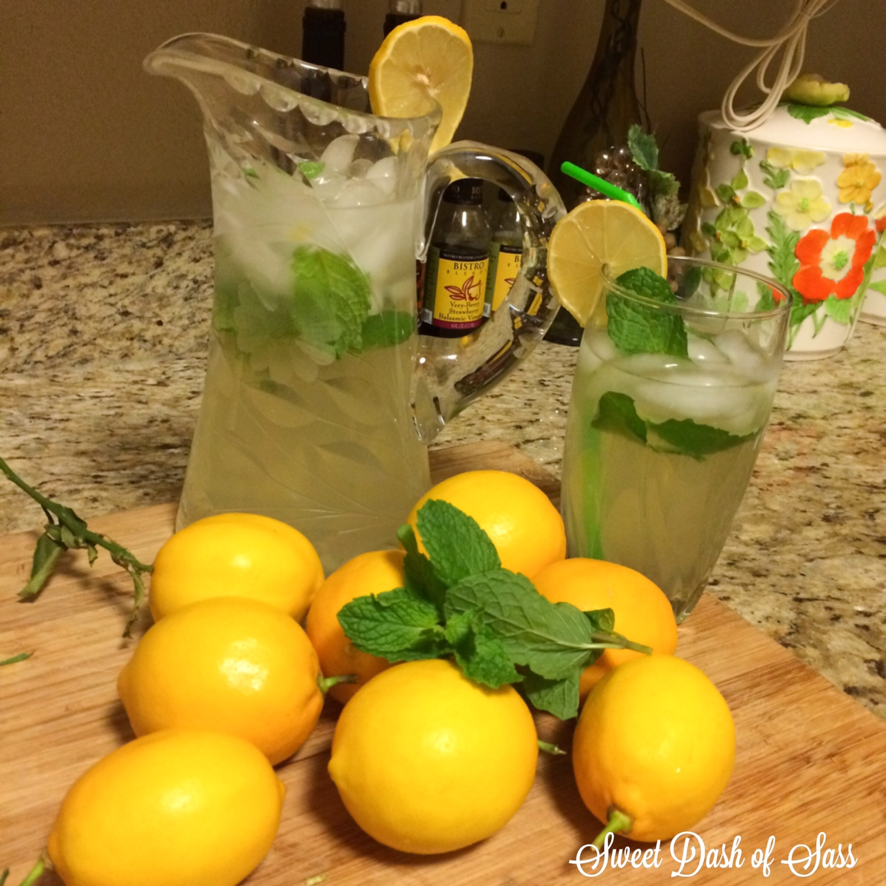 Mint Lemonade - www.SweetDashofSass.com