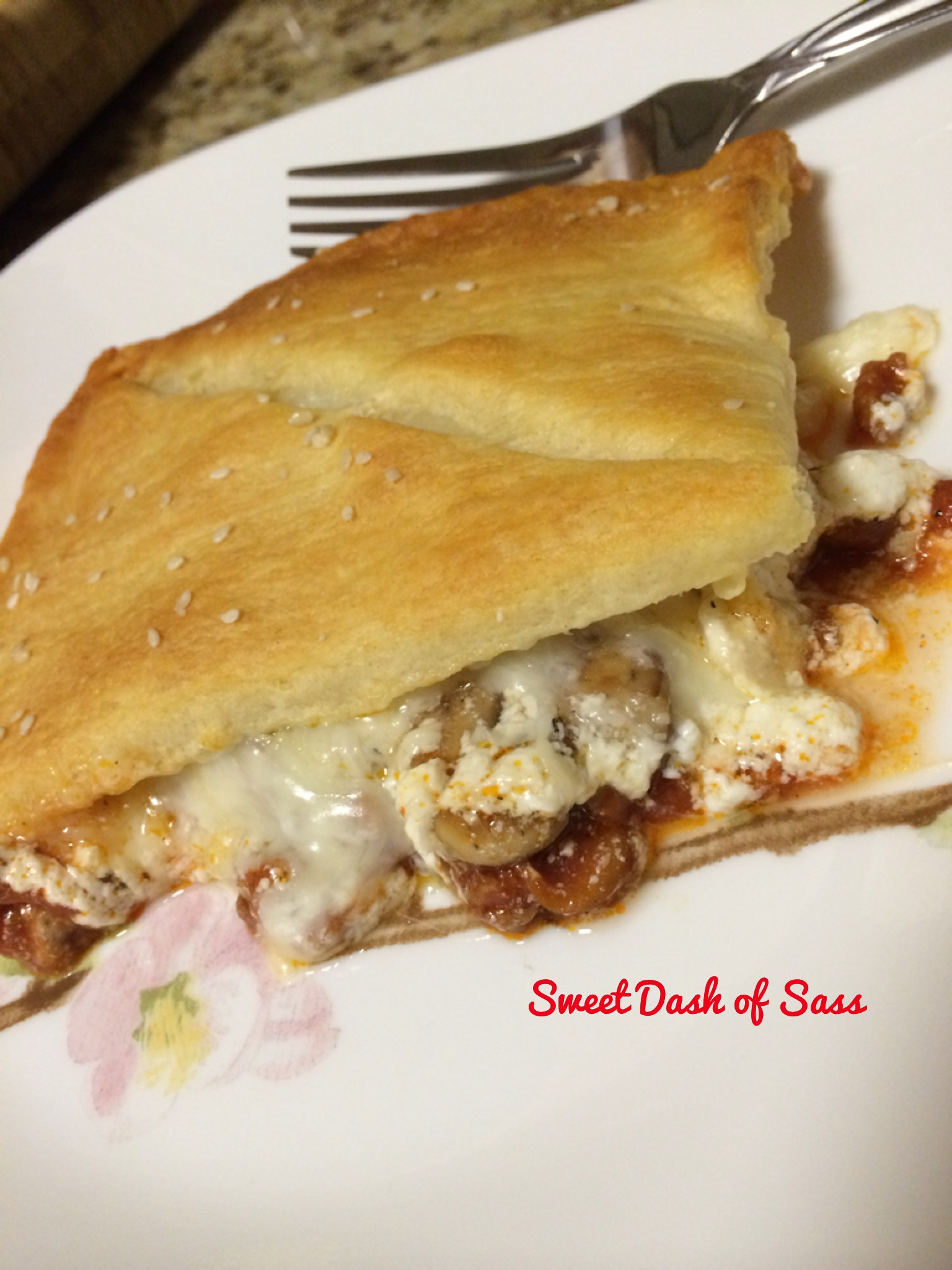 Upside Down Pizza Pie - www.SweetDashofSass.com  Check out and 'LIKE' Sweet Dash of Sass for this recipe and many more!