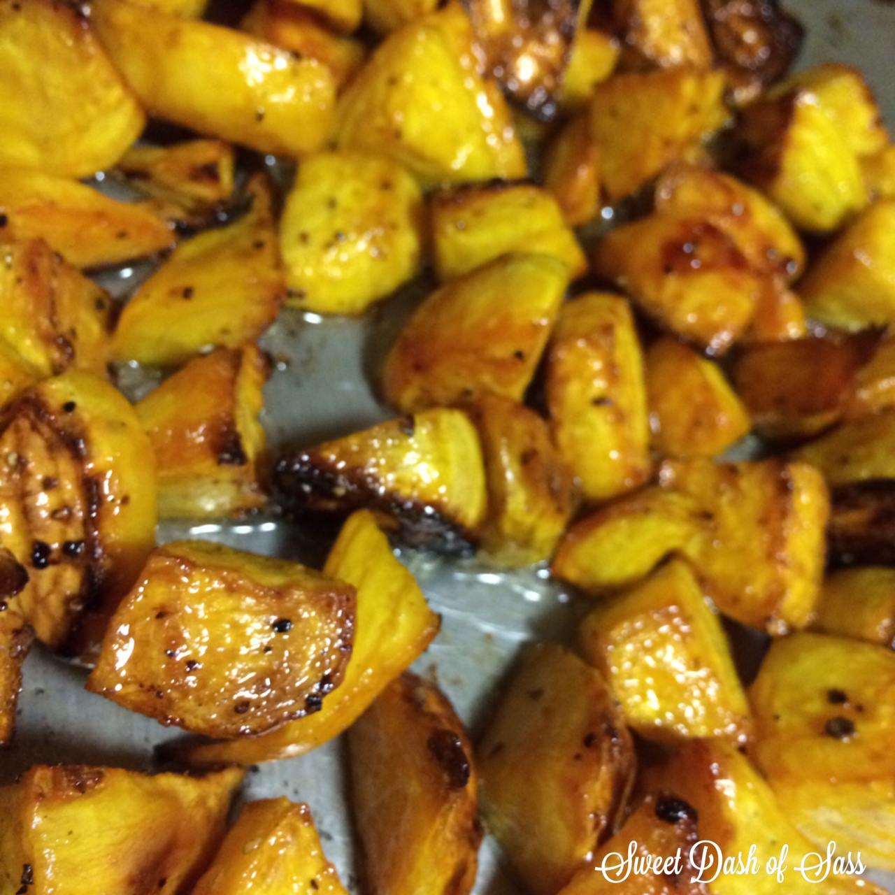 Roasted Golden Beets - www.SweetDashofSass.com