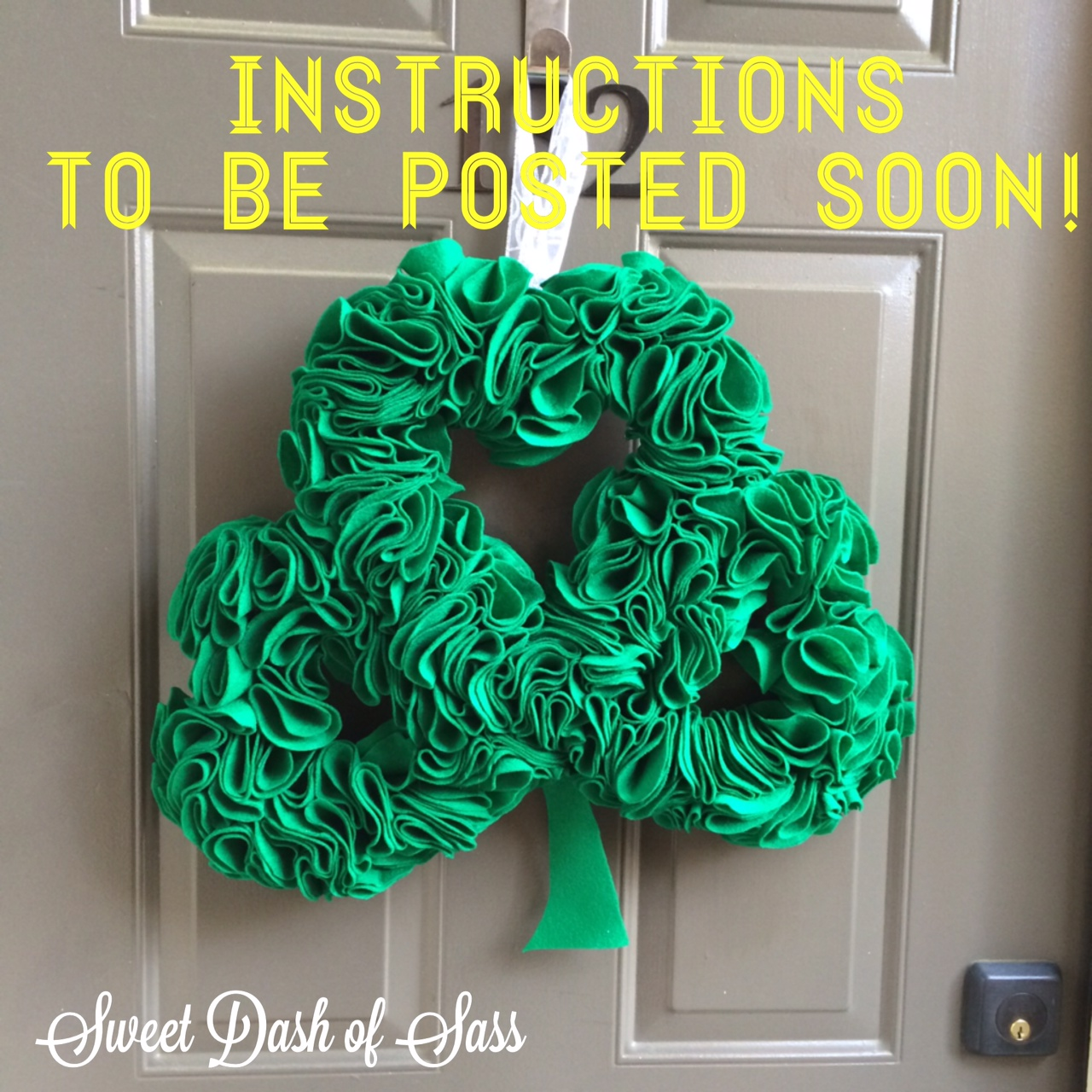 Patrick's Day Wreath - COMING SOON - www.SweetDashofSass.com