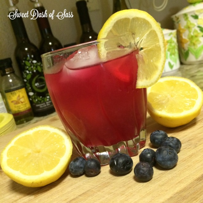Blueberry Lemonade - www.SweetDashofSass.com  -- Oh my goodness, so delish!