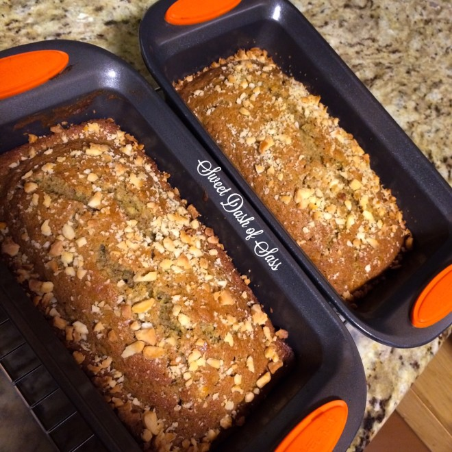 Apple Carrot Zucchini Bread -- www.SweetDashofSass.com  Perfect recipe for Fall!  Super easy and delicious!!