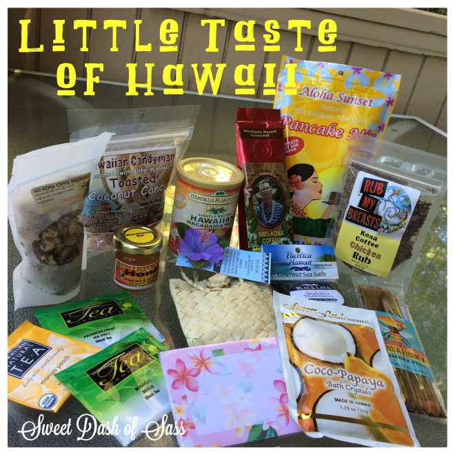 Little Taste of Hawaii Giveaway - Check out Sweet Dash of Sass on Facebook for Details  www.SweetDashofSass.com