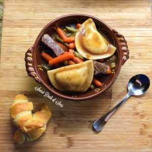 Beef & Pierogi Stew - perfect for a Fall/Winter Day.  www.SweetDashofSass.com