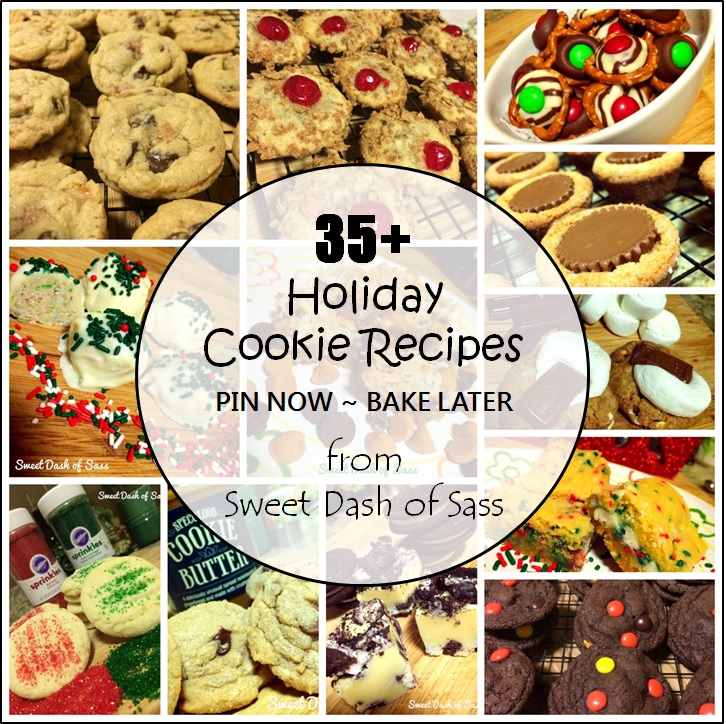 35+ Holiday Cookie Recipe Ideas for your Holiday Platters this Holiday Season! #25DaysCookieStyle www.SweetDashofSass.com