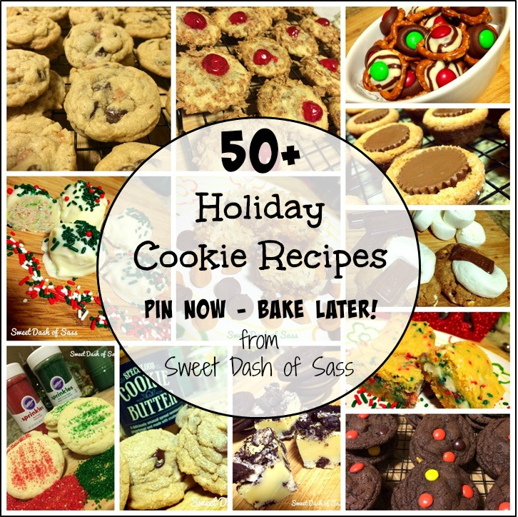 50+ Holiday Cookie Recipes - Pin Now - Bake Later www.SweetDashofSass.com