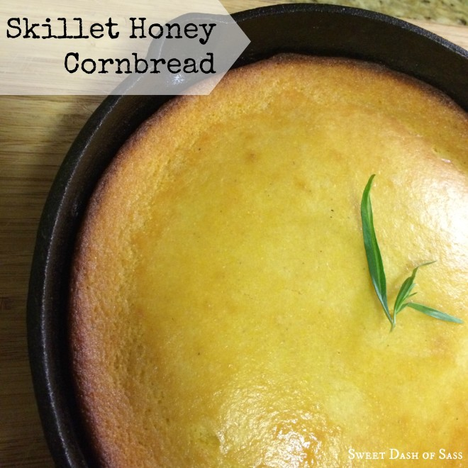 Skillet Honey Cornbread - www.SweetDashofSass.com