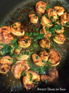 Spicy Cilantro Shrimp with Honey Lime Dipping Sauce - www.SweetDashofSass.com